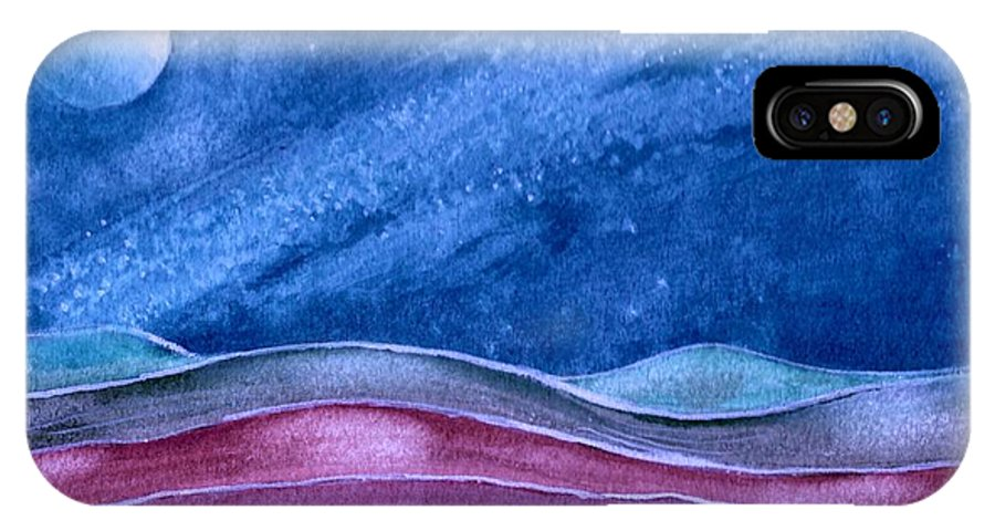Landscape IPhone X Case featuring the painting Stardust by Brenda Owen