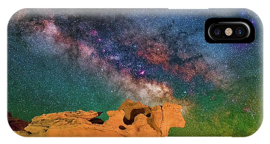 Astronomy IPhone X Case featuring the photograph Stargazing Bull by Ralf Rohner