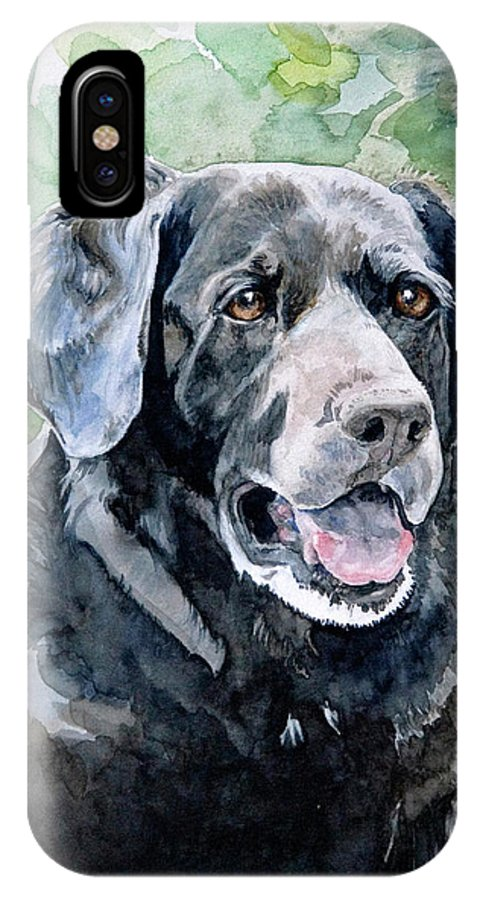 Portrait IPhone X Case featuring the painting Starr by Eileen Hale
