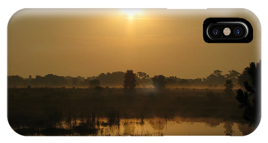Nature IPhone X Case featuring the photograph Starry Sunrise by Peg Urban