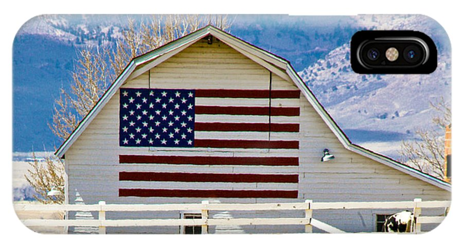 Barn IPhone X Case featuring the photograph Stars Stripes And Barns by Marilyn Hunt