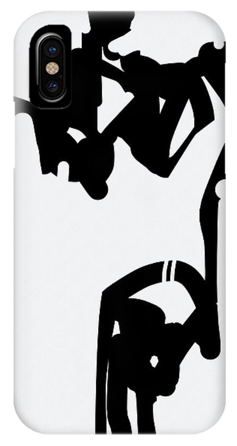 Black & White IPhone X Case featuring the digital art Static Fall by Jim Agard