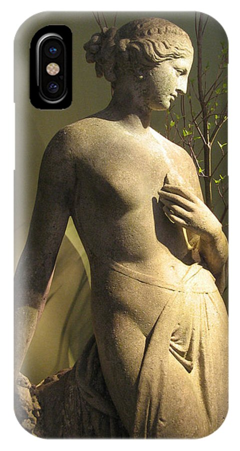 Statue IPhone X Case featuring the photograph Statuesque by Jessica Jenney