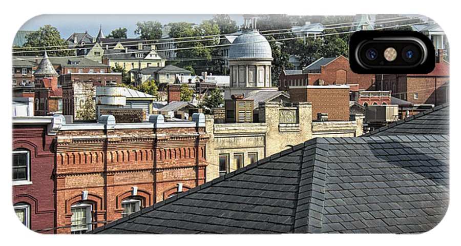 Steeples IPhone X Case featuring the photograph Staunton by Gene Myers