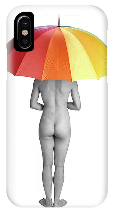 Umbrella IPhone X Case featuring the photograph Cool And Dry by Herman Robert