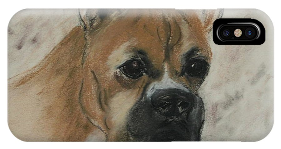 Dog IPhone X Case featuring the drawing Steady Goes It by Cori Solomon