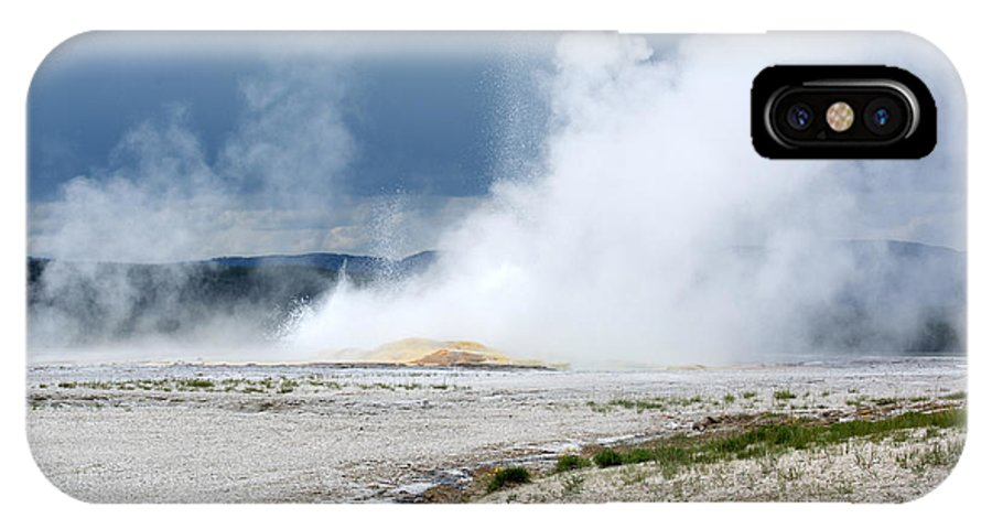 Hot Springs IPhone X Case featuring the photograph Steamy by Linda Kerkau