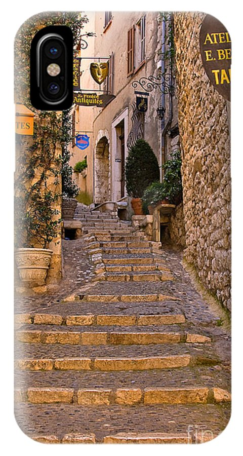 Travel IPhone X Case featuring the photograph Steep Street In St Paul De Vence by Louise Heusinkveld