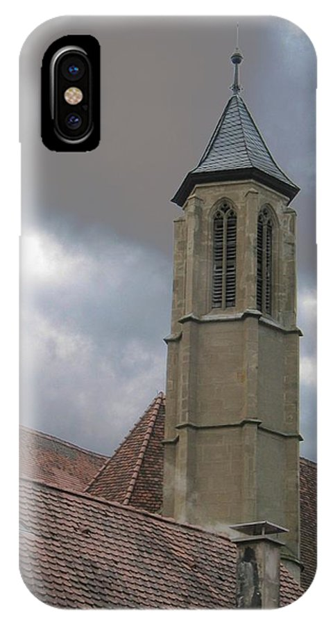 Cathedral IPhone X Case featuring the photograph Steeple by Dylan Punke