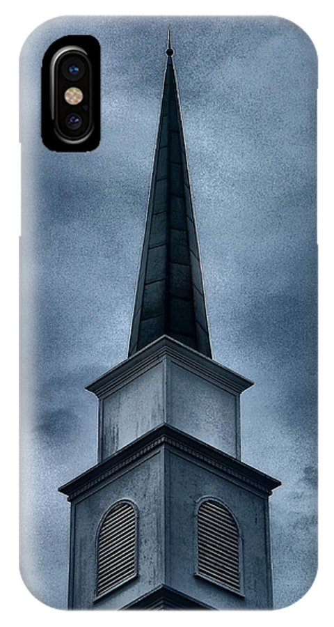 Steeple IPhone X Case featuring the photograph Steeple II by Gina Welch