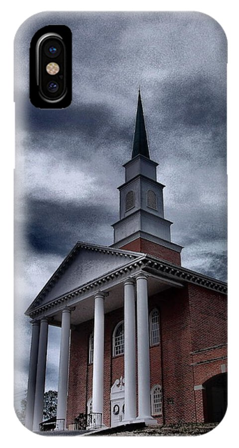 Church IPhone X Case featuring the photograph Steeple In The Sky by Gina Welch