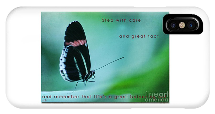 Butterfly IPhone X Case featuring the photograph Step With Care by Sandra Clark