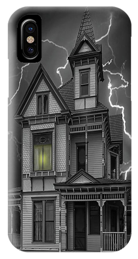 Architecture IPhone X Case featuring the photograph Stephenville Home by Sherry Adkins