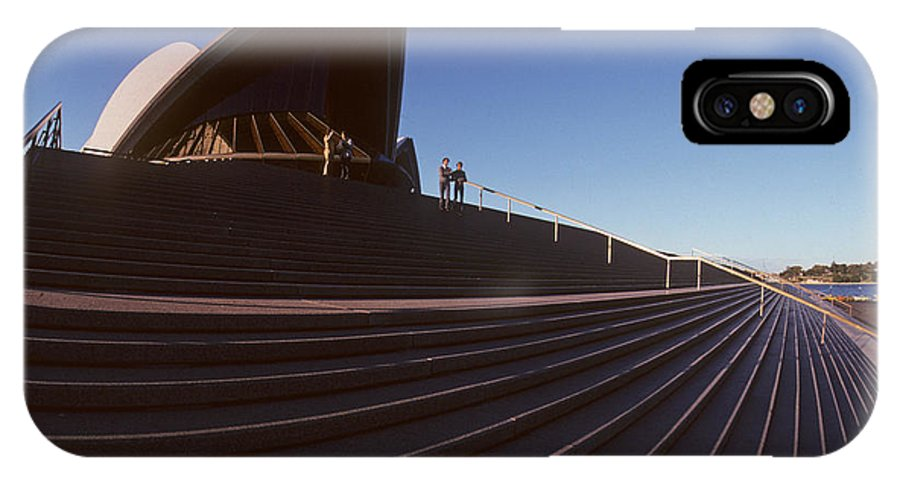 Architecture IPhone X Case featuring the photograph Steps At Sydney Opera House by Carl Purcell