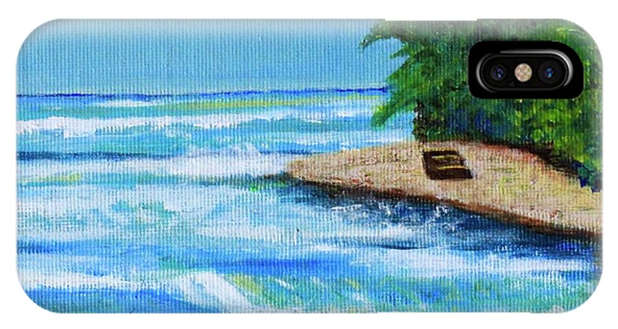 Puerto Rico IPhone X / XS Case featuring the painting Steps Beach, Rincon by Alexandra Talese