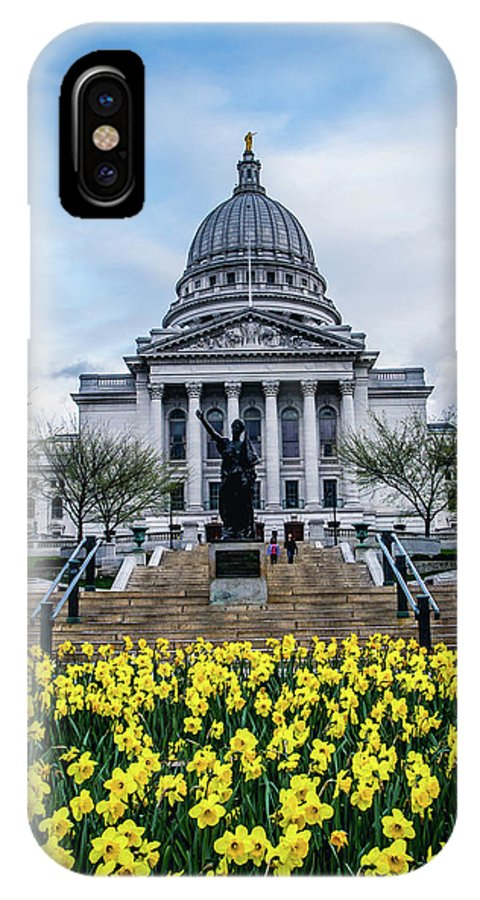 Flowers In Bloom IPhone X Case featuring the photograph Steps In Bloom by Rockland Filmworks