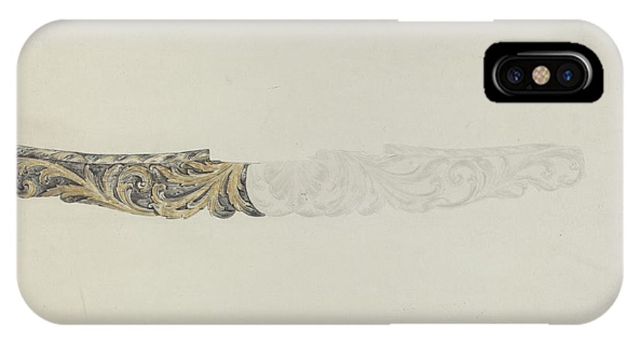 """IPhone X Case featuring the drawing Stern Piece From """"henrietta Francis"""" by American 20th Century"""