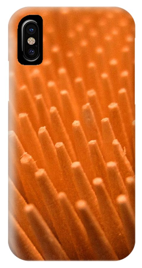 Toothpicks IPhone X / XS Case featuring the photograph Sticks by Ian MacDonald