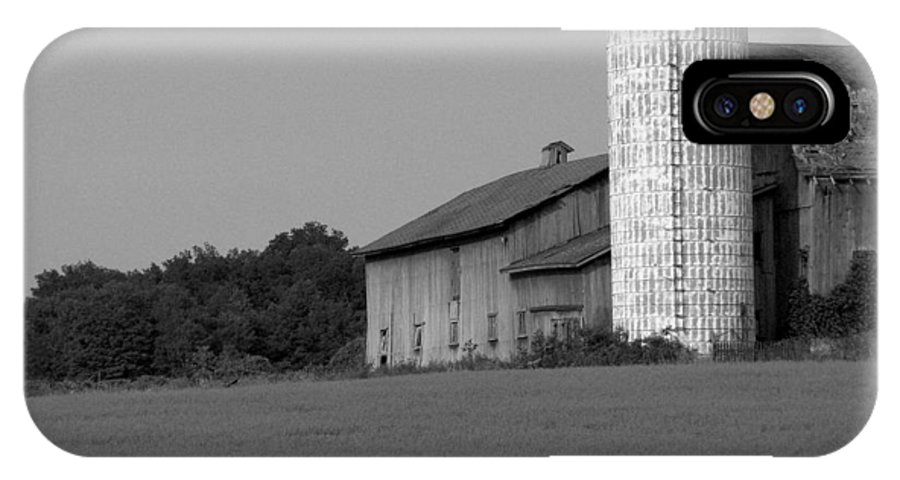 Barn IPhone X Case featuring the photograph Still Here by Rhonda Barrett