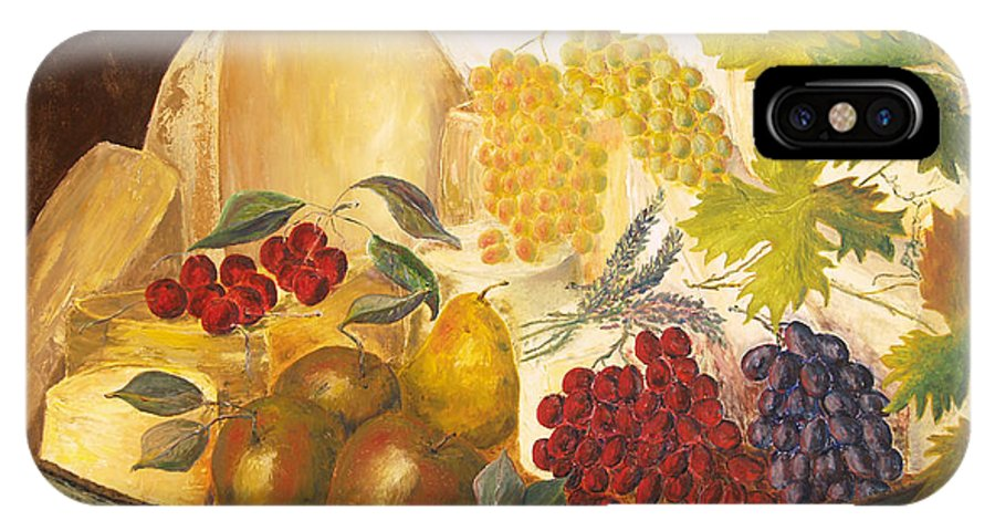Still Life IPhone X Case featuring the painting Still Life - Classical Banquet by Paul Galante