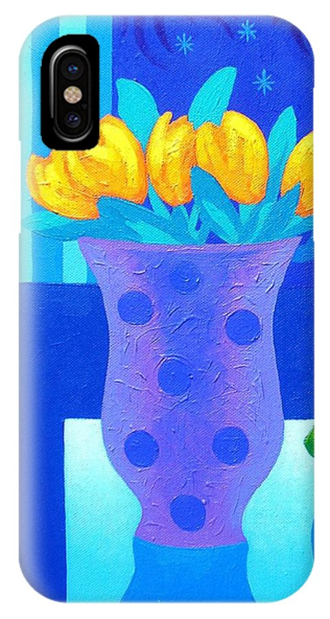Acrylic IPhone X / XS Case featuring the painting Still Life At Window IIi by John Nolan