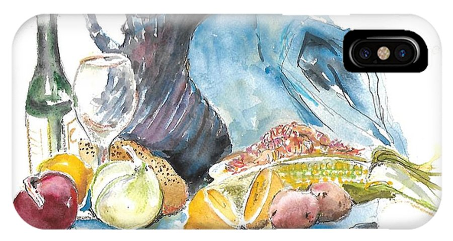 IPhone X Case featuring the painting Still Life by Bobby Walters