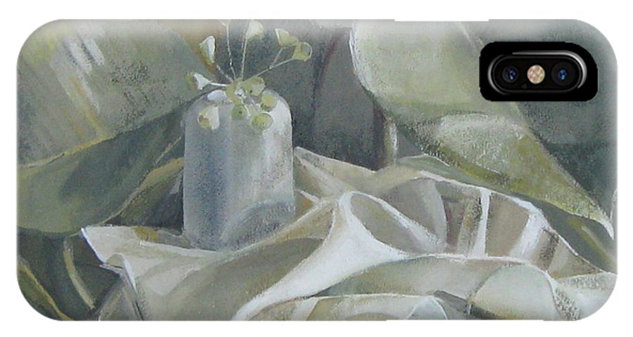 Still Life IPhone X / XS Case featuring the painting Still Life by Elena Oleniuc