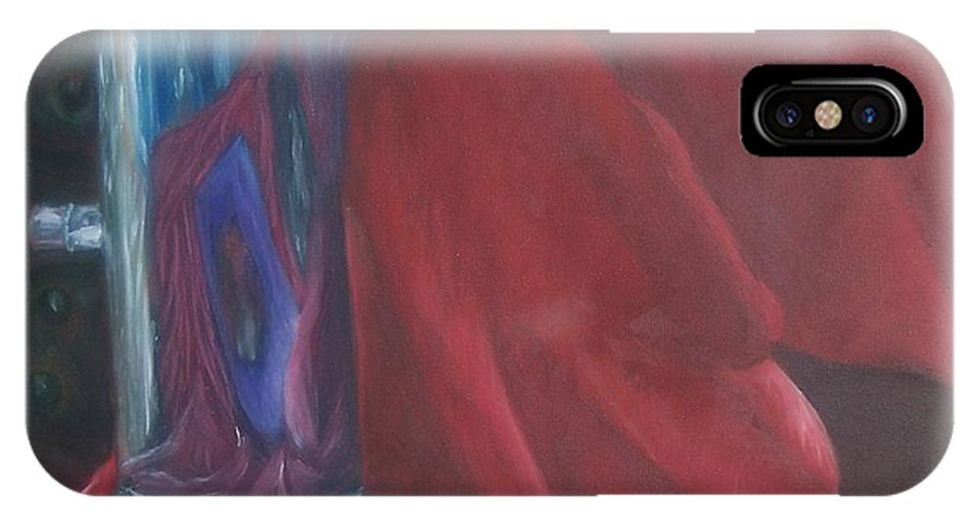Drapery IPhone X Case featuring the painting Still Life by Emily Young