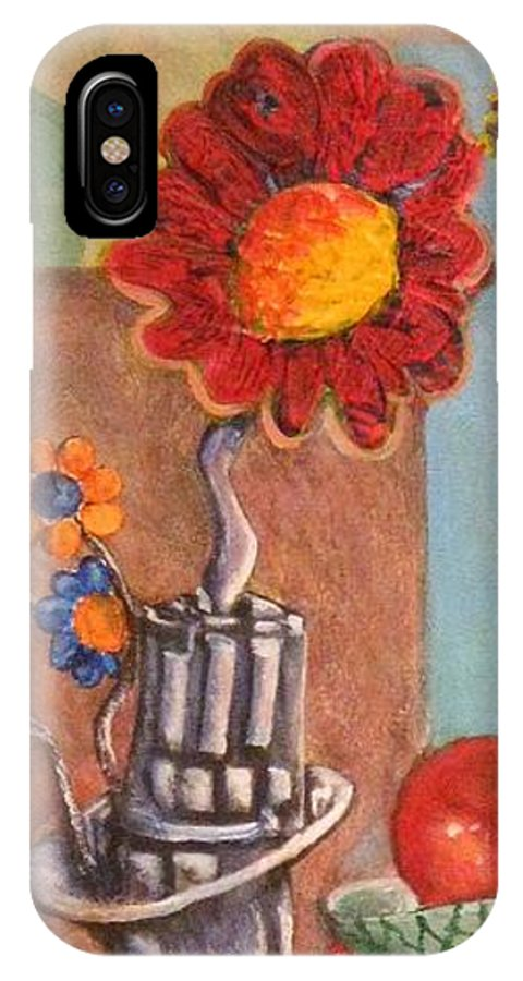 Still Life IPhone X Case featuring the painting Still Life Reconstructed by Dennis Tawes