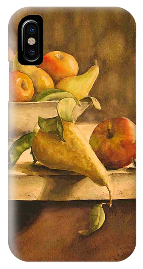 Still-life IPhone Case featuring the painting Still-life With Apples And Pears by Piety Choi