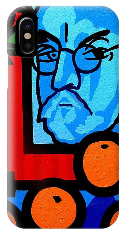 Henri Matisse IPhone X Case featuring the painting Still Life With Henri Matisse by John Nolan