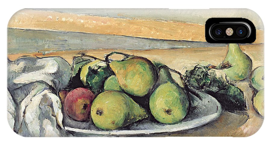 Still IPhone X Case featuring the painting Still Life With Pears by Paul Cezanne