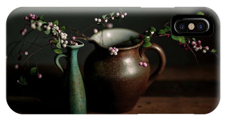 Still Life IPhone X Case featuring the photograph Still Life With Stoneware by Nailia Schwarz