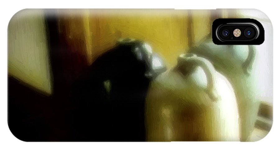 Antiques IPhone X Case featuring the digital art Still Life With Stoneware by RC DeWinter