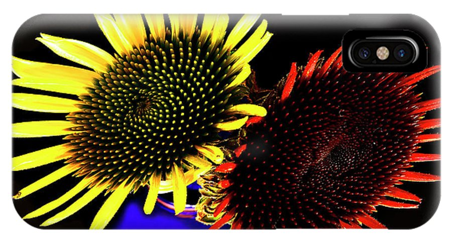 Summer Flowers IPhone X Case featuring the photograph Still Life With Summer Flowers #1. by Alexander Vinogradov