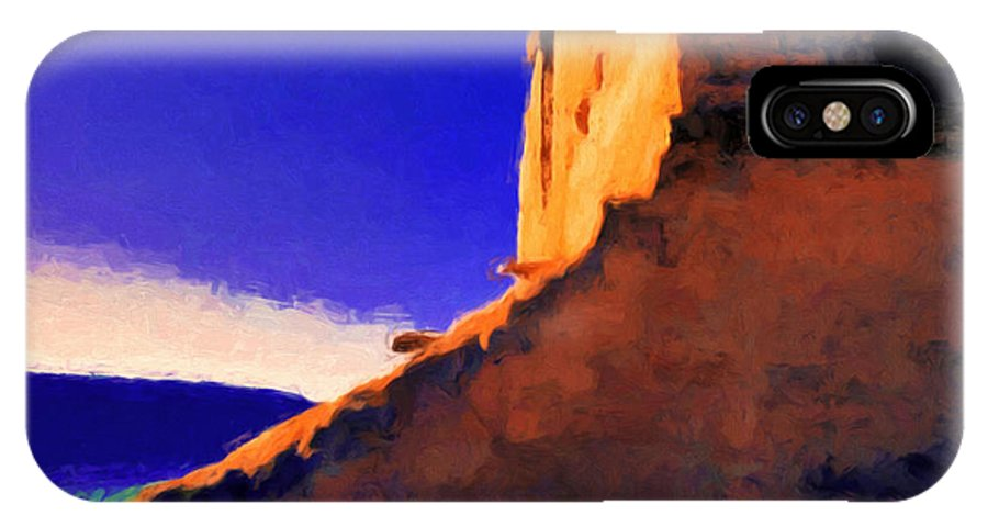Pecos IPhone X Case featuring the painting Still Rising by Jim Buchanan