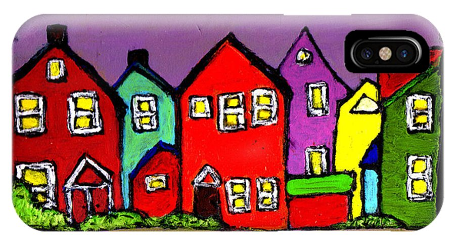 Houses IPhone X Case featuring the painting Still Standing by Wayne Potrafka