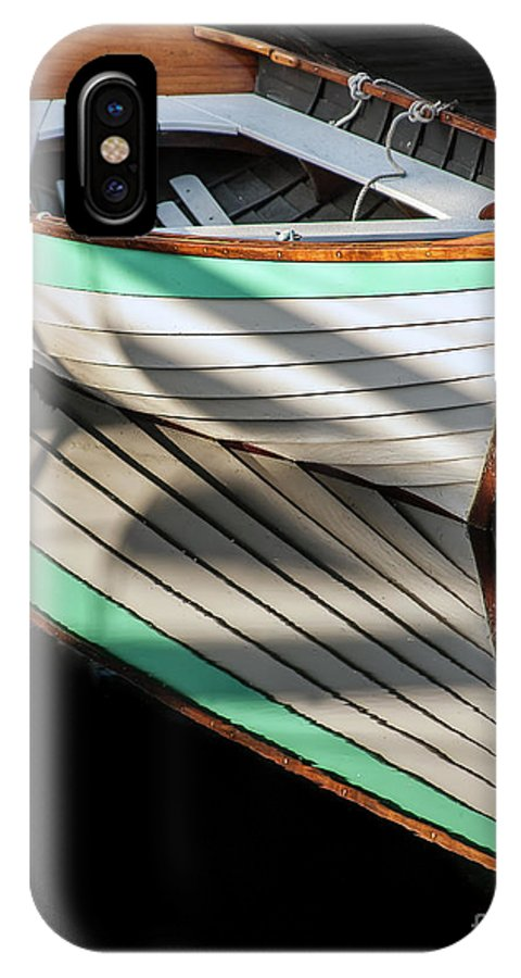 Classic Boats IPhone X Case featuring the photograph Still Water by Christopher Marona
