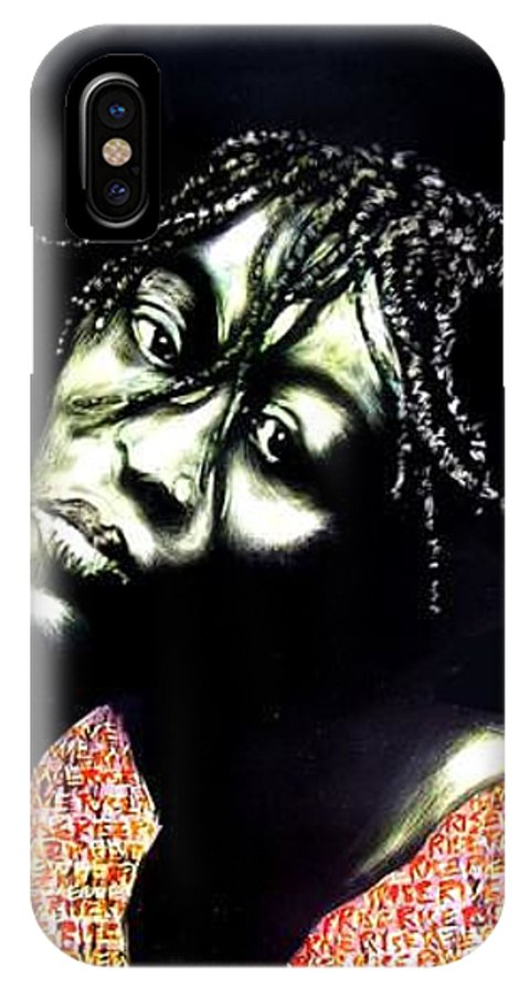IPhone X Case featuring the mixed media Still We Rise by Chester Elmore
