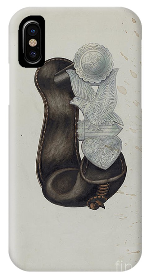 IPhone X Case featuring the drawing Stirrup by Harry Mann Waddell