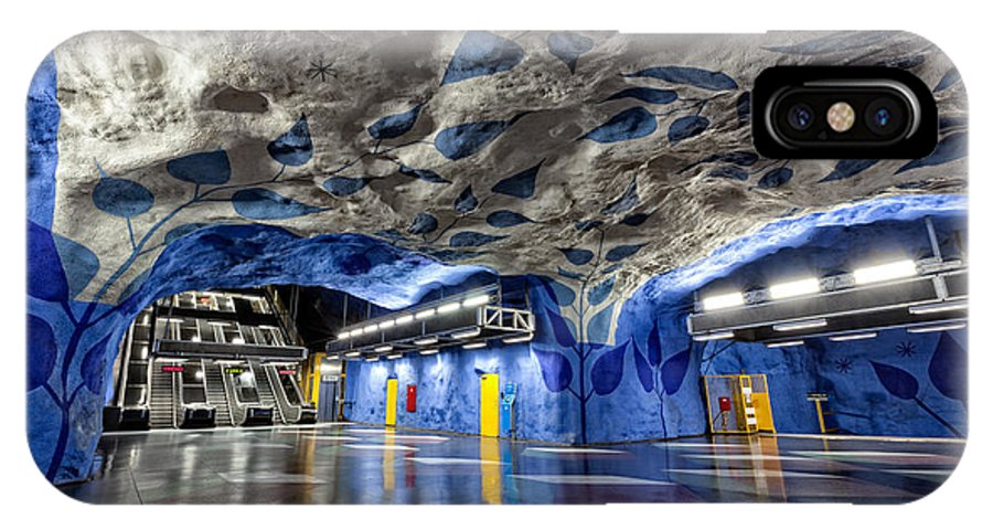 Architecture IPhone X Case featuring the photograph Stockholm Metro Art Collection - 003 by Kevin Cho