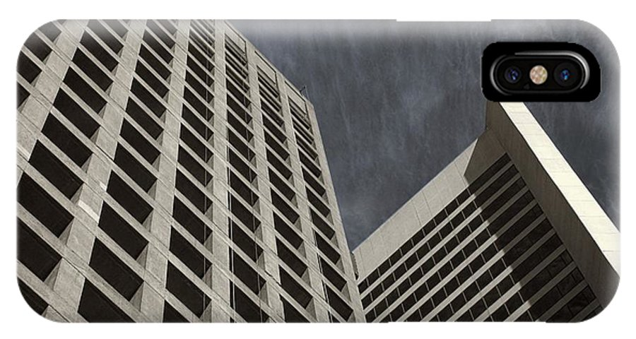 Buildings IPhone X Case featuring the photograph Stoic Buildings by Bill Kellett
