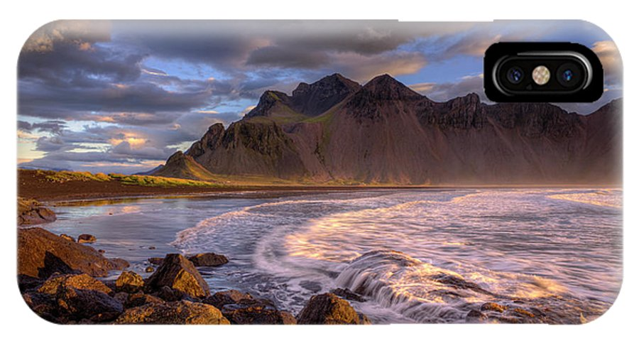 Vestrahorn IPhone X Case featuring the photograph Stokksnes by Rune Askeland