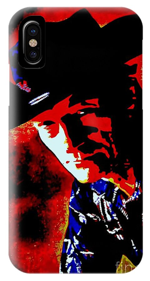 Musician IPhone X Case featuring the painting Stompin' Tom by Holger Majorahn