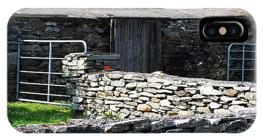 Irish IPhone X Case featuring the photograph Stone Barn Doolin Ireland by Teresa Mucha
