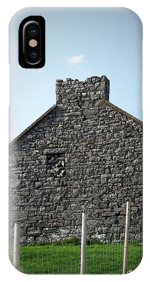 Irish IPhone X Case featuring the photograph Stone Building Maam Ireland by Teresa Mucha