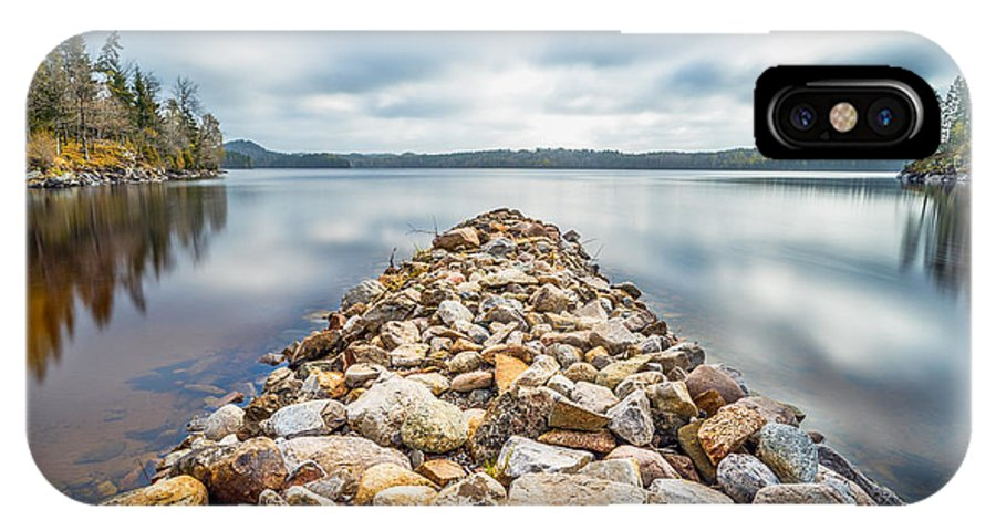 Lake IPhone X Case featuring the photograph Stone Jetty by James Billings