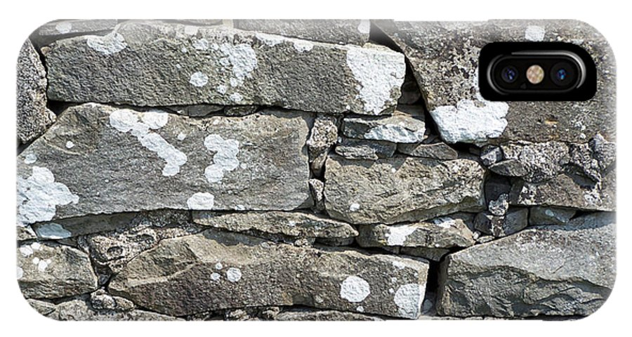 Irish IPhone X Case featuring the photograph Stone Wall Detail Doolin Ireland by Teresa Mucha