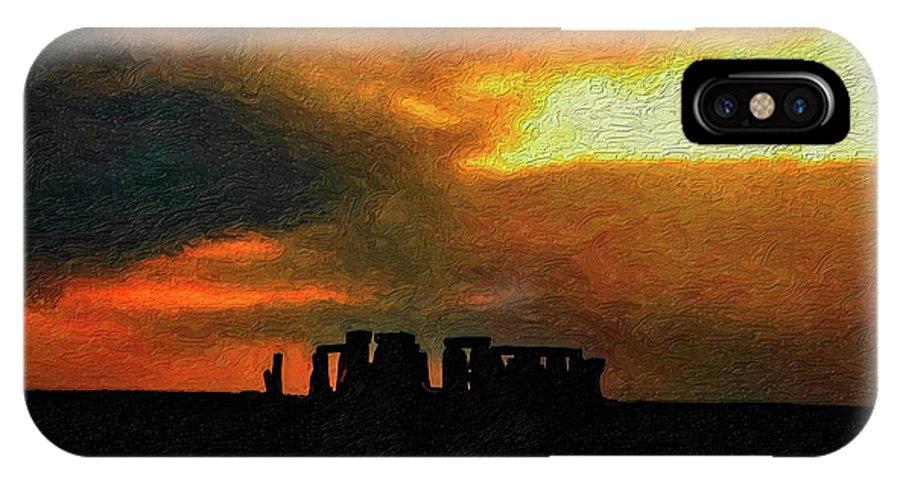 Stonehenge IPhone X Case featuring the photograph Stonehenge by Steve Harrington