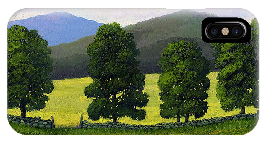 Landscape IPhone Case featuring the painting Stonewall Field by Frank Wilson